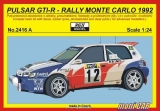 "REJI MODEL 2416 A NISSAN Pulsar GTIR Rally Monte Carlo 1992 ""Off. team"" (1:24)"