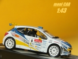 PEUGEOT 207 S2000 No.6 G. Canivenq - S. Grimal Rally Alsace-Vosges 2009 (1:43)  Altaya/IXO