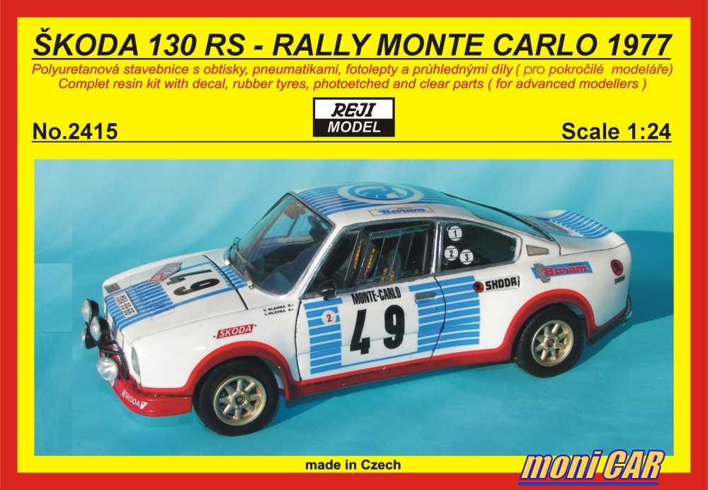 REJI MODEL 2415 ŠKODA 130 RS Rally Monte Carlo 1977 (1:24)