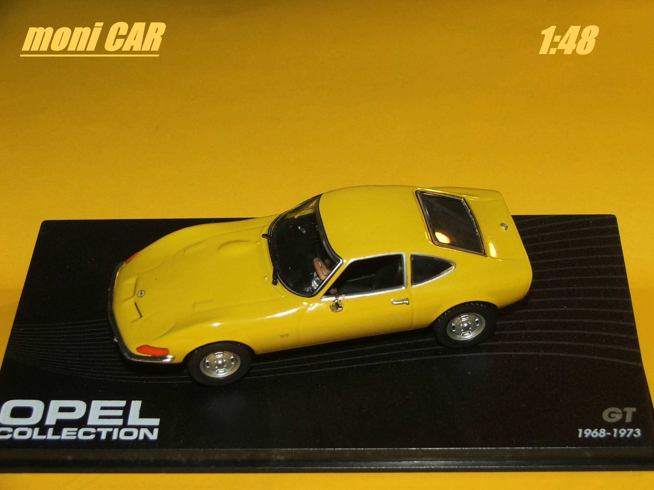OPEL GT Yellow 1968-1973 (1:43) Opel collection