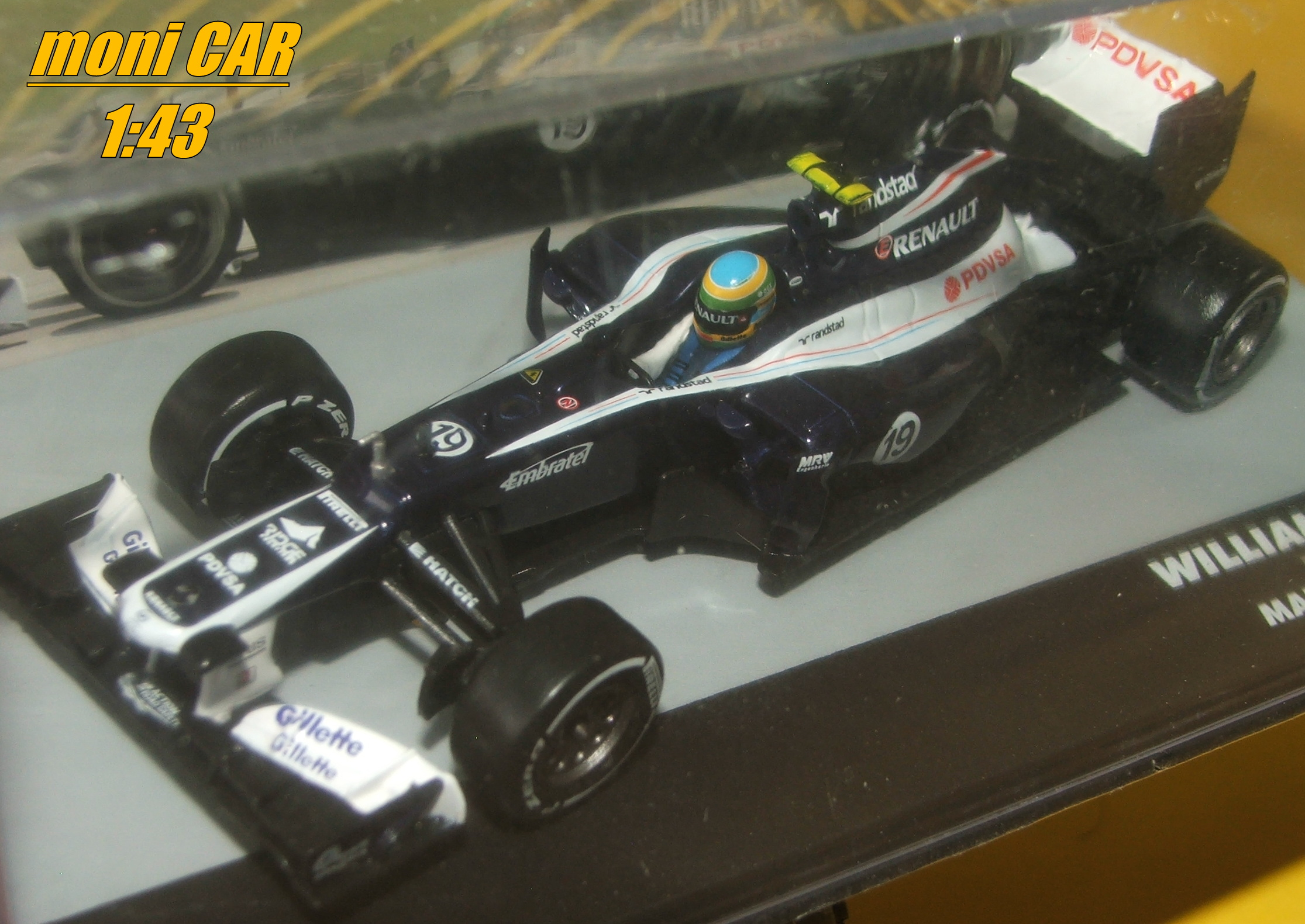 WILLIAMS FW34 No.19 - Bruno Senna - GP Malaysia 2012 (1:43) Altaya/IXO