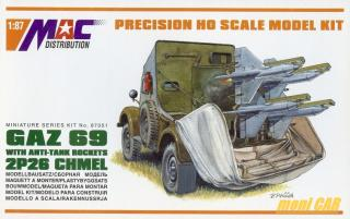 MAC DISTRIBUTION 87051 GAZ 69 With Anti-Tank Rockets 2P26 CHME (1:87)