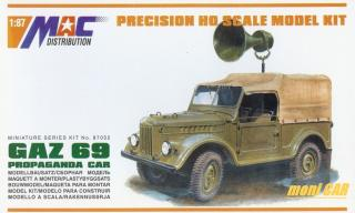 MAC DIS 87052 GAZ 69 Propaganda Car (1:87)