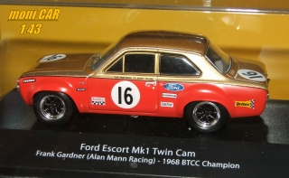 FORD Escort Mk 1 Twin Cam No.16 - Frank Gardner (Alan Mann Racing) - 1968 BTCC Champoin (1:43) ATLAS