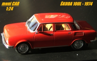 ŠKODA 100 L 1969 (1:24) WHITEBOX