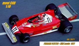 FERRARI - F1 312T2B TEAM SCUDERIA FERRARI SPA SEFAC No.11 Niki Lauda - 1977 WORLD CHAMPION (1:18) MCG